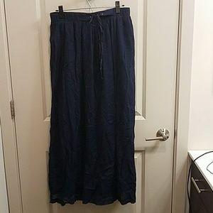 J. CREW Blue Cotton Maxi Skirt